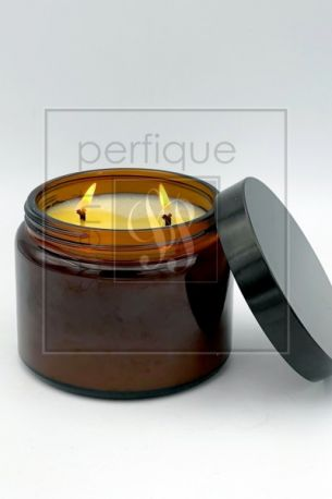AMBER APOTHECARY CANDLE DOUBLE WICK 500G