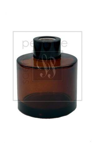 KAREN DIFFUSER BOTTLE 100ML AMBER WITH BLACK CAP