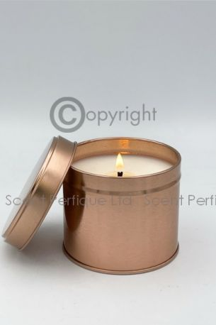 ROSE GOLD SCENTED CANDLE TINS 8OZ