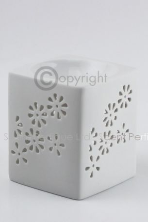 Wax Melt Burner Square Ceramic