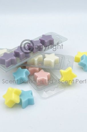 SCENTED STAR SHAPE 4 CAVITY WAX MELT PACK 10 ESSENTIAL OIL - NEW BIOPET
