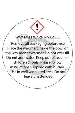 Wax Tartlet Warning Label