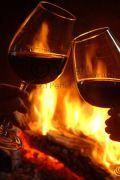 winter fireside