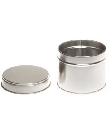 SILVER ROUND WELDED SIDE SEAM TIN 76mm