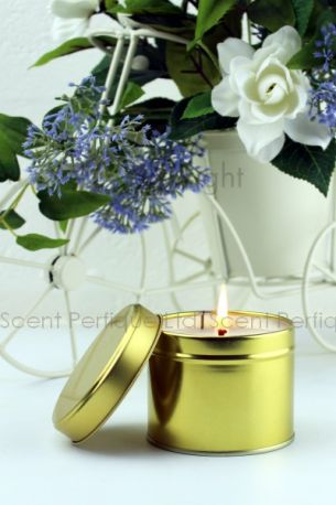 SCENTED CANDLE TINS 8OZ GOLD