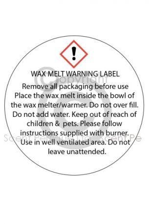 Wax Tartlet Warning Label